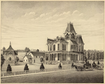 Nebraskan colonial gothic mansion