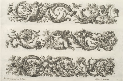17th cent. french ornamental design - Le Pautre