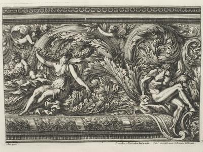 grotesque border motif