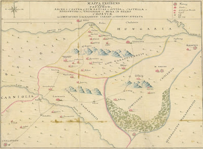 map of northern Croatia 1740