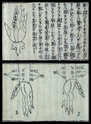 hand schematics in Japanese rare book