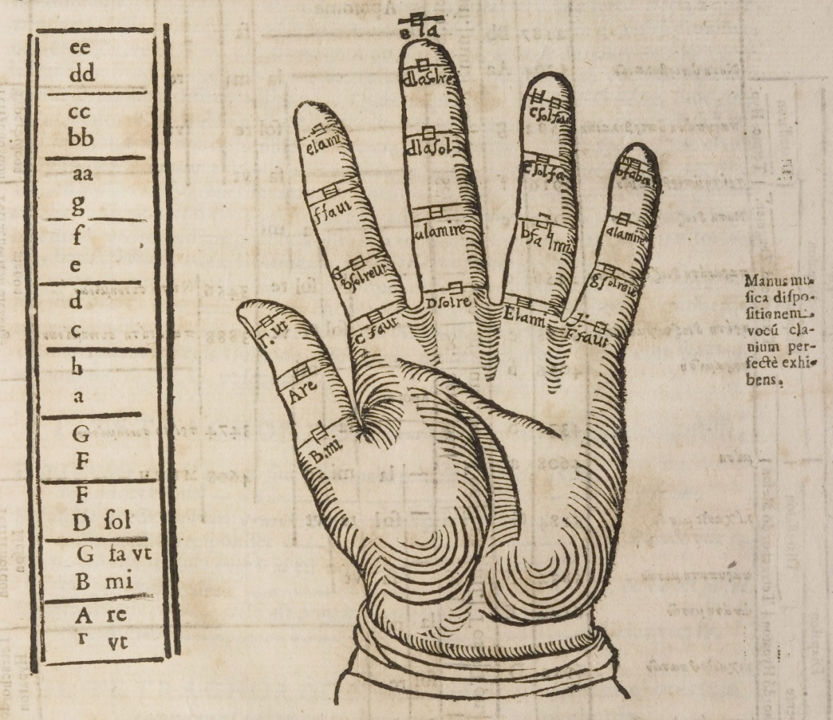 mnemonic device - Guidonian hand