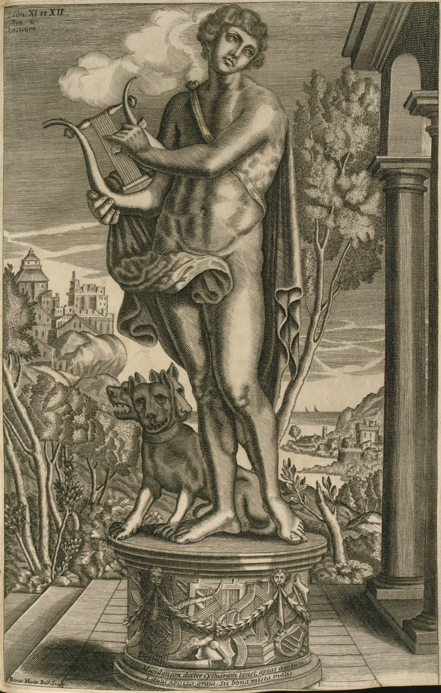 Euterpe with Cerberus at her feet