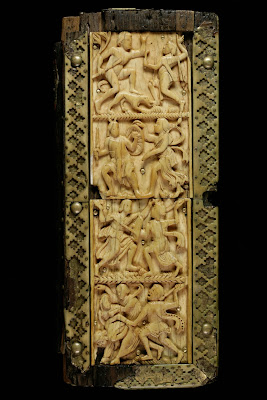 Cantatorium carved manuscript case cover