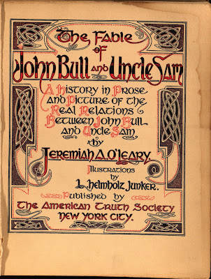 The Fable of John Bull and Uncle Sam - Titlepage