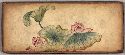 lotus flowers in Buddhist sketch album
