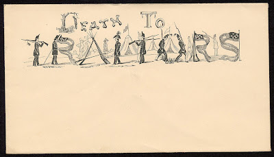 Death to Traitors typographic envelope