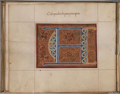 Spanish Calligraphy - Caso quadrado para principios