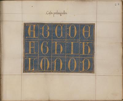 casos prelongados - Spanish calligraphy