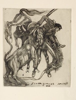 bullfighting etching