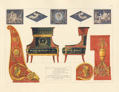 cameo, chair and bedhead decorations