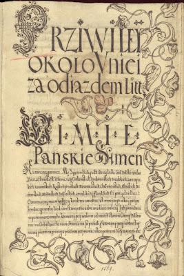 Polish calligraphy