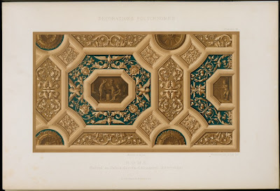 ceiling design from Scrofa-Calcagnini Palace in Ferrara