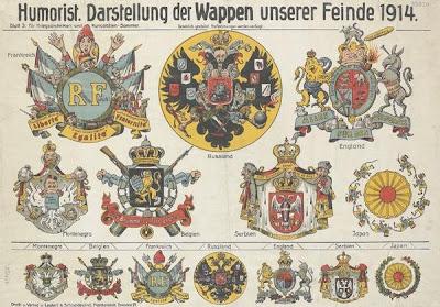 Humoristische Karte Von Europa 1914.Bibliodyssey Dogs Of War
