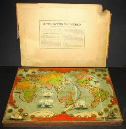 Game of trip round the world 1897