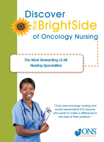 BrightSideBook Oncology Nurse Newsletter Template on month card, navigation flyer, appreciate pediatric, helping patient, role radiation, munson medical center, task list, hershey medical center 7th floor, quotes for, pediatric hematology,