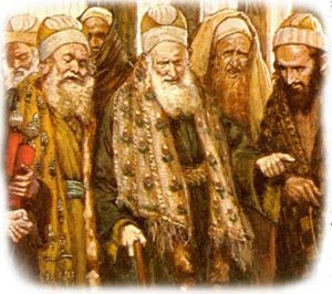 Pharisees at the time of Jesus. Whats different? Way cooler clothes! Everything else is exactly the same.