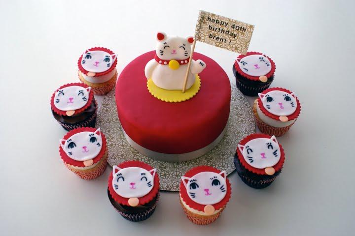 Maneki Neko Cake Amp Cupcakes Coco Cake Land Cake