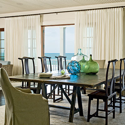 Dining Room with beach accents