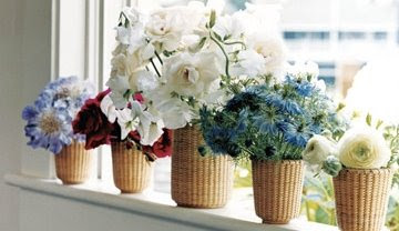 nantucket baskets with flowers