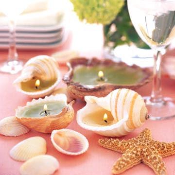 Making Seashell Candles