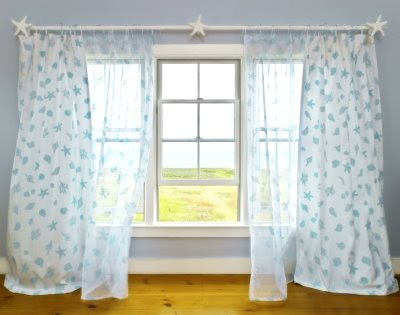 shell inspired window treatments