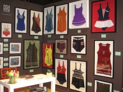 framed vintage swimsuits