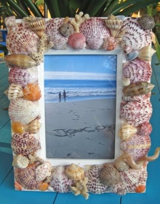 make seashell frame