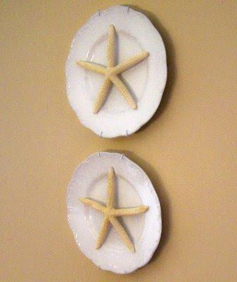 starfish on plates