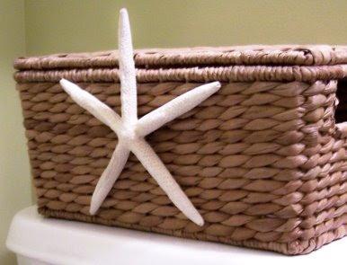 starfish on baskets