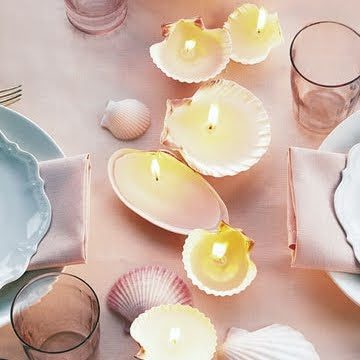 How to Make Seashell Candles
