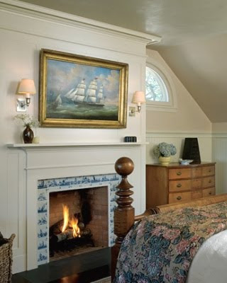Fireplace in Bedroom