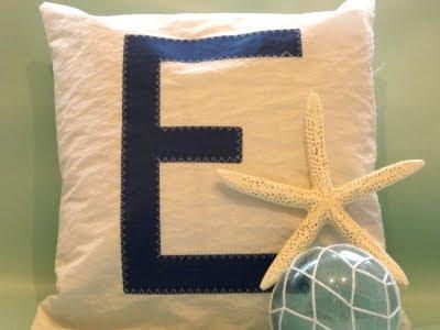 Handmade Sail Pillow