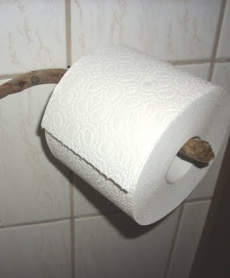 handcrafted driftwood toilet paper holder