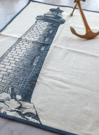 Thomas Paul lighthouse tea towel