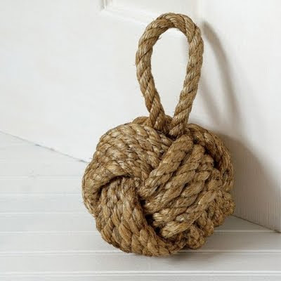 monkey fist knot doorstop
