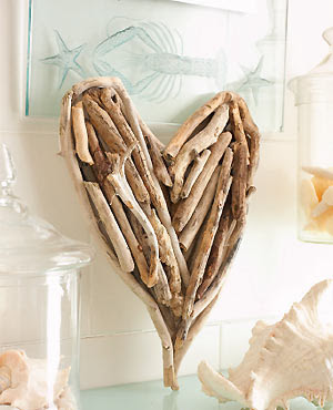 make driftwood heart
