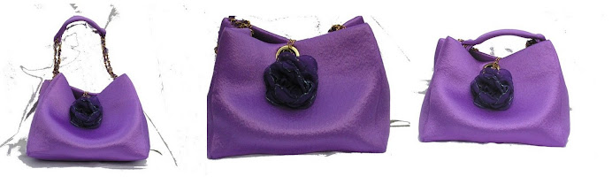 Cartera violeta glamour.