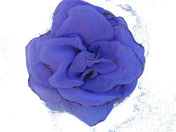 Rosa de gaza Lila con bordes en glitter.