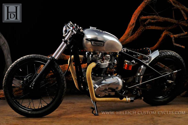 1971 Triumph Bonneville Bobber By Helrich Custom Cycles Bikermetric