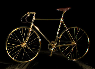 Blink Bikes 24k Gold Fixed Gear Bicycle
