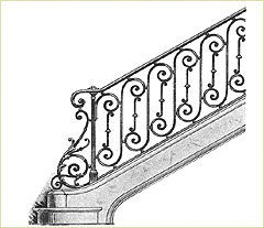 iron railing designs - Wall Railings Designs