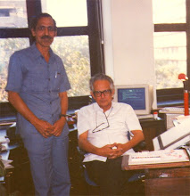 With RK Laxman, Cartoonist at his Times of India Office, Mumbai