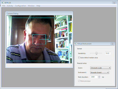 Imagen de la interfaz del programa en la opción <b>Instrumento virtual</b>