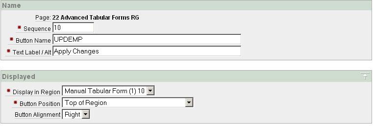 Manual Tabular Form APEX / Javascript / CSS