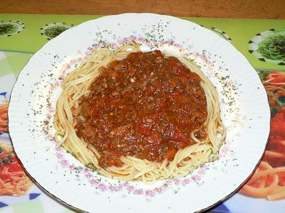 recettes plats  Spaghetti à la bolognaise crémeuse