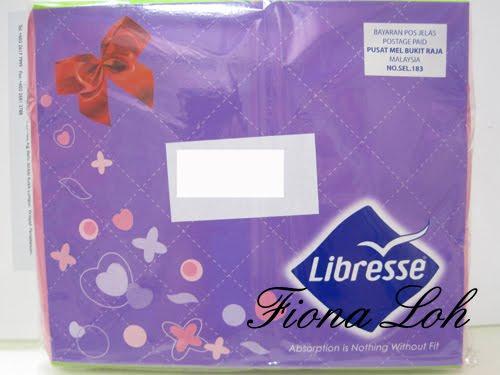 Libresse sample giveaway.
