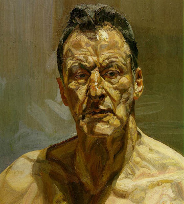 """Reflection"" (auto-retrato) 1985 - Lucian Freud"