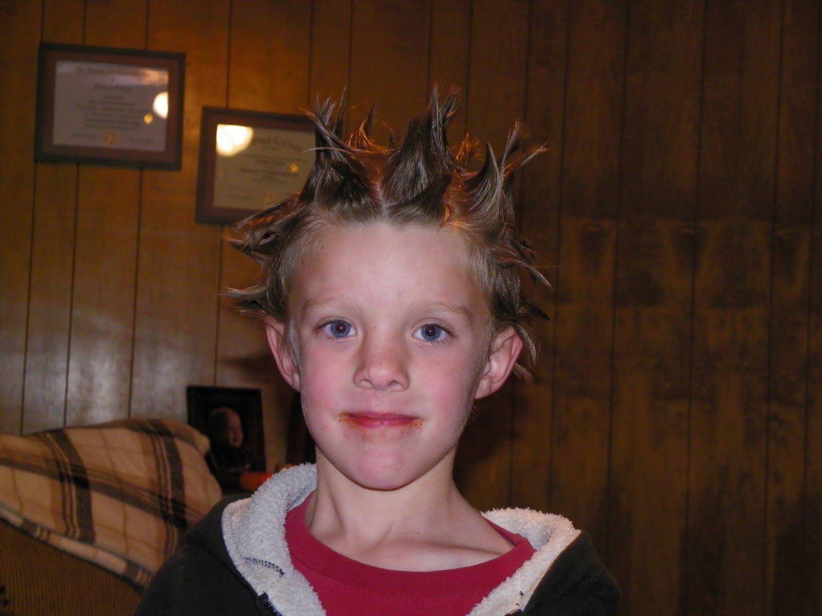 Easy Crazy Hair Day Ideas For Boys With Short Hair 32758 Loadtve
