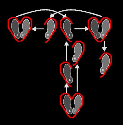 Poesía visual: Pasos básicos de tango